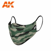 AK9098 AK Interactive Protective mask with classic camouflage / CLASSIC CAMOUFLAGE FACE MASK 01