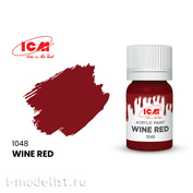 C1048 ICM Paint for creativity, 12 ml, color Wine red (Wine Red)