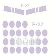 72142 KV Models 1/72 Набор окрасочных масок для остекления модели Fokker F-27 Friendship