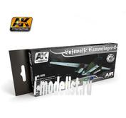 AK2020 AK Interactive Набор из восьми красок LUFTWAFFE CAMOUFLAGES VOL.2 (камуфляжи Люфтваффе, вторая часть)