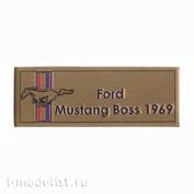 Т306 Plate Табличка для Ford Mustang Boss 1969 80х30 мм, цвет золото