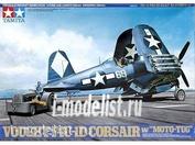 61085 Tamiya 1/48 Самолёт F4U-1D Corsair w/Moto-Tug