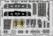 FE647 Eduard 1/48 Цветное фототравление для Merlin HC.3 interior S.A.