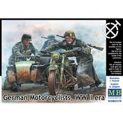 35178 MasterBox 1/35 Немецкие мотоциклисты, период Второй Мировой войны