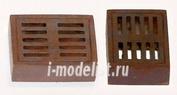 EL032 Plusmodel 1/35 Sever hatches - square (канализационная решетка, 2 штуки)