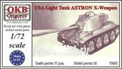 72051 OKB Grigorov 1/72 USA Light Tank ASTRON X-Weapon