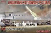 UA72043 Modelcollect 1/72 Schwerer Plattformwagen Type SSyms 80