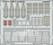 49677 Eduard 1/48 Фототравление для A3D-2 seatbelts