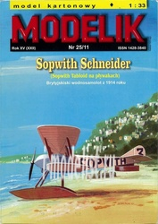 MD25/11 Modelik 1/33 SOPWITH SCHNEIDER - британский гидросамолет 1914 года