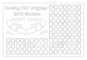 72194 KV Models 1/72 Маска для Boing 737-200