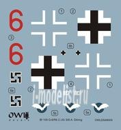 OWLDS48009 OWL 1/48 Decal Messerschmitt Bf 109 G-6/R6, 2./JG 300, Ofw. Arnold Doring