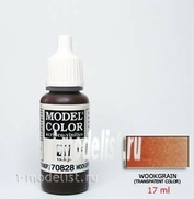 70828 Vallejo Краска акриловая `Model Color` Каучуковое дерево/Woodgrain
