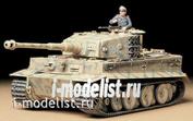 35194 Tamiya 1/35 Тяжелый танк Tiger I Ausf.E mid production 1943г. c 1 фигурой командира