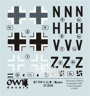 OWLDS72005 OWL 1/72 Decal Bf 109 G mitt FuG 350 Naxos