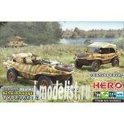 H35003 Hero Hobby 1/35 German Pkw.K2s Schwimmwagen Type 166 2 in 1