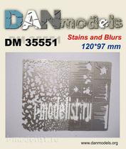 DM35551 DANmodel Трафарет. Кляксы, брызги, пятна