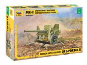 3518 Звезда 1/35 Британская 6-фунтовая противотанковая пушка Mk-II