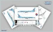 738-040 Ascensio 1/144 Декаль на самолет боенг 737-800 (Korean Air)