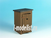 ED-3502 Eureka 1/35 Diorama accessories-Resin set 1/35 scale-Country Toilet (Outhouse)