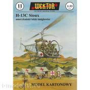 Wektor 011 Wektor Бумажная модель Bell H-13C Sioux