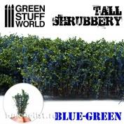 9928 Green Stuff World Высокий кустарник - сине-зеленый / Tall Shrubbery - Blue Green