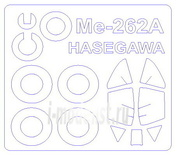 72531 KV Models 1/72 Набор окрасочных масок Me-262A + маски на диски и колеса