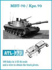 ATL-35-173 Friulmodel 1/35 Траки железные для MBT-70 / Kpz.70