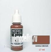 70940 Vallejo Краска акриловая `Model Color` Коричневый средний / Saddle Brown