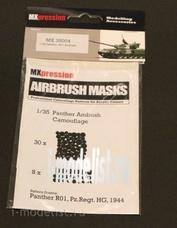 MX35004 MXpression 1/35 Камуфляжная маска Panther R01, Pz.Regt. HG 1944, Airbrush Mask