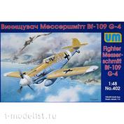 402 Um 1/48 Fighter Messerschmitt Bf-109 G-4