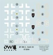 OWLDS72004 OWL 1/72 Decal Bf 109 E mitt PeilG IV