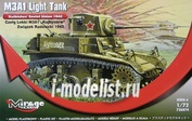 726074 Mirage Hobby 1/72 M3A1 Light Tank