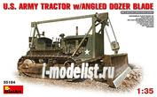 35184 1/35 MiniArt U.S. ARMY TRACTOR w/ANGLED DOZER BLADE