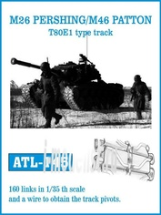 ATL-35-145 Friulmodel 1/35 Траки железные для M26 PERSHING / M46 PATTON T80E1 type track