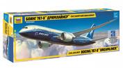 7008 Звезда 1/144 Пассажирский авиалайнер Боинг 787-8 Дримлайнер