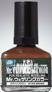 WC03 Gunze Sangyo Смывка MR.WEATHERING Color - Stain Brown
