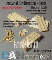 DM35234 DANmodel 1/35 Набор для изготовления 6 деревянных ящиков