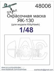 48006 SX-Art 1/48 Painting mask Yak-130 (for Kittyhawk model)
