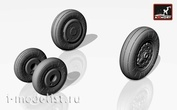 AW72008 Armory 1/72 Набор дополнений колес для Су-7Б (поздний) / колеса БМ / БМК