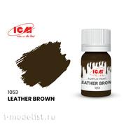 C1053 ICM Краска для творчества, 12 мл, цвет Кожа коричневая (Leather Brown)