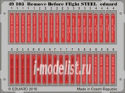 49103 Eduard 1/48 Фототравление Remove Before Flight СТАЛЬ