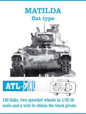 Atl-35-71 Friulmodel 1/35 Matilda flat type