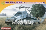 7429 Dragon 1/72 Sd.Kfz.232 Schwerer Panzerspähwagen (FU)