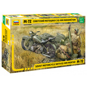 3651 Звезда 1/35 Советский мотоцикл М-72 с минометом
