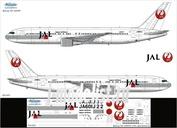 763-005 Ascensio 1/144 Декаль на самолет боенг 767- 200/300ER (JAL Japn Arlines)