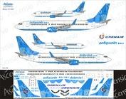 738-016 Ascensio 1/144 Декаль на самолет боенг 737-800 (Добрлет/ОрнАйр)