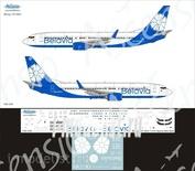 738-026 Ascensio 1/144 Декаль на самолет боенг 737-800 (Belavia new)