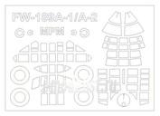 72622 KV Models 1/72 Набор окрасочных масок для FW-189A1/A-2   + маски на диски и колеса