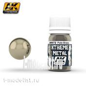 AK-672 AK Interactive XTREME METAL PALE BRASS (metallic pale brass)