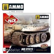 AMIG7807 Ammo Mig Набор акриловых красок SUPER PACK MUD EFFECTS